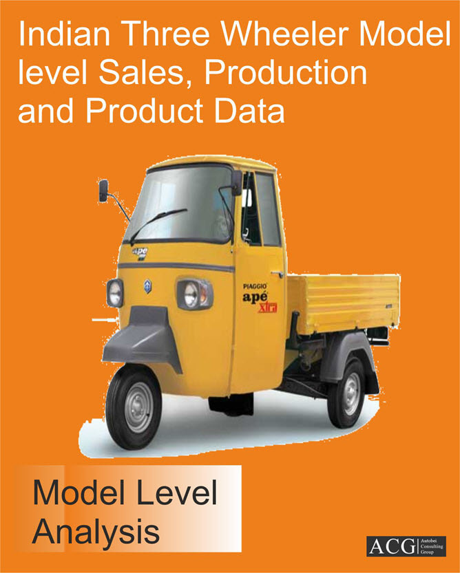 Indian Three Wheeler Model level Sales, Production and Product Data