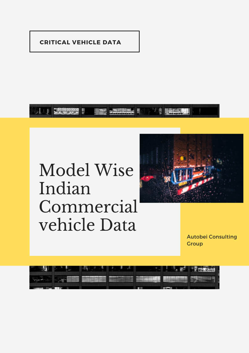 Indian Truck and Bus Model wise Sales data and forecast