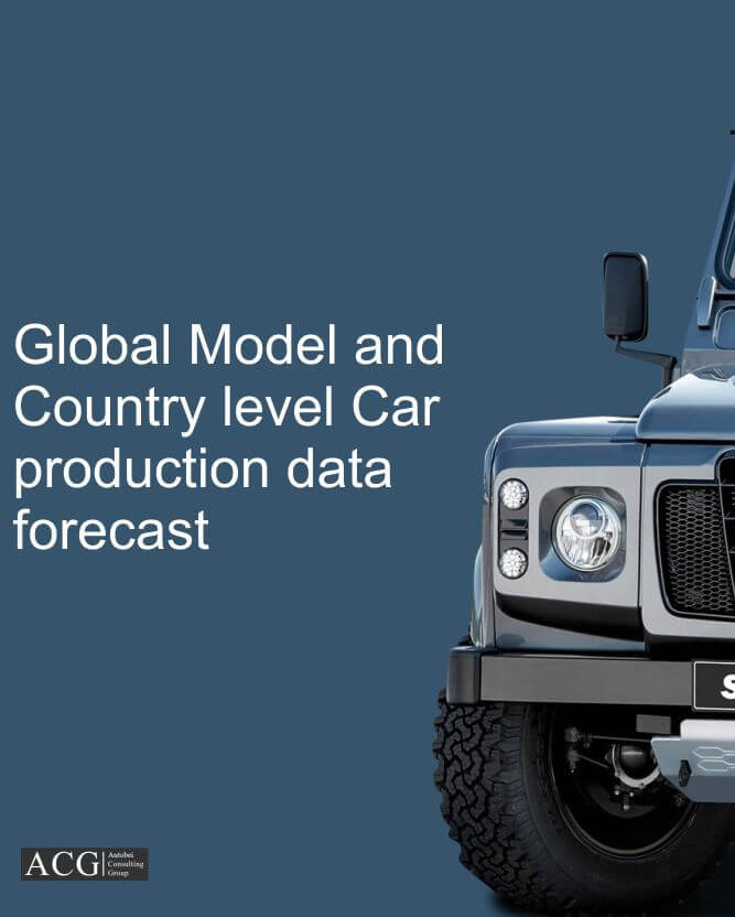 Global Model and Country level Car production data forecast