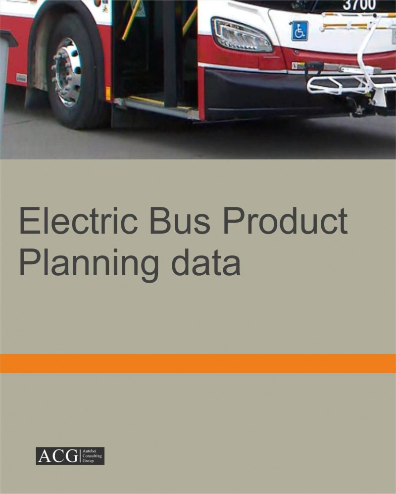 Electric Bus Product Planning data