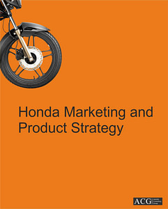 Honda Two Wheeler Marketing and Product Strategy
