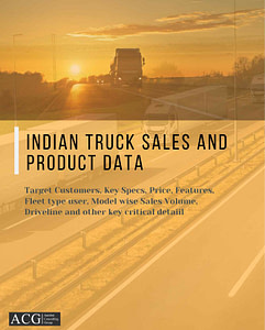 Indian Truck Sales and Product Data