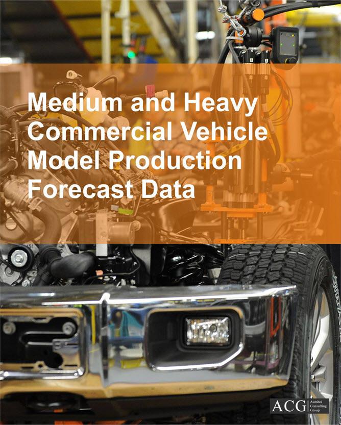 Medium and Heavy Commercial Vehicle Model Production Forecast Data