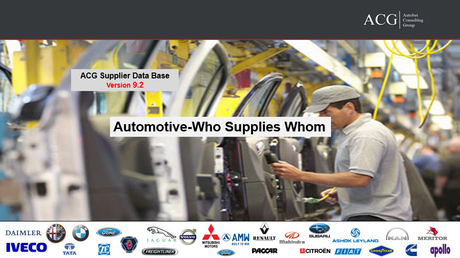 Automotive Supplier Database-Who Supplies Whom